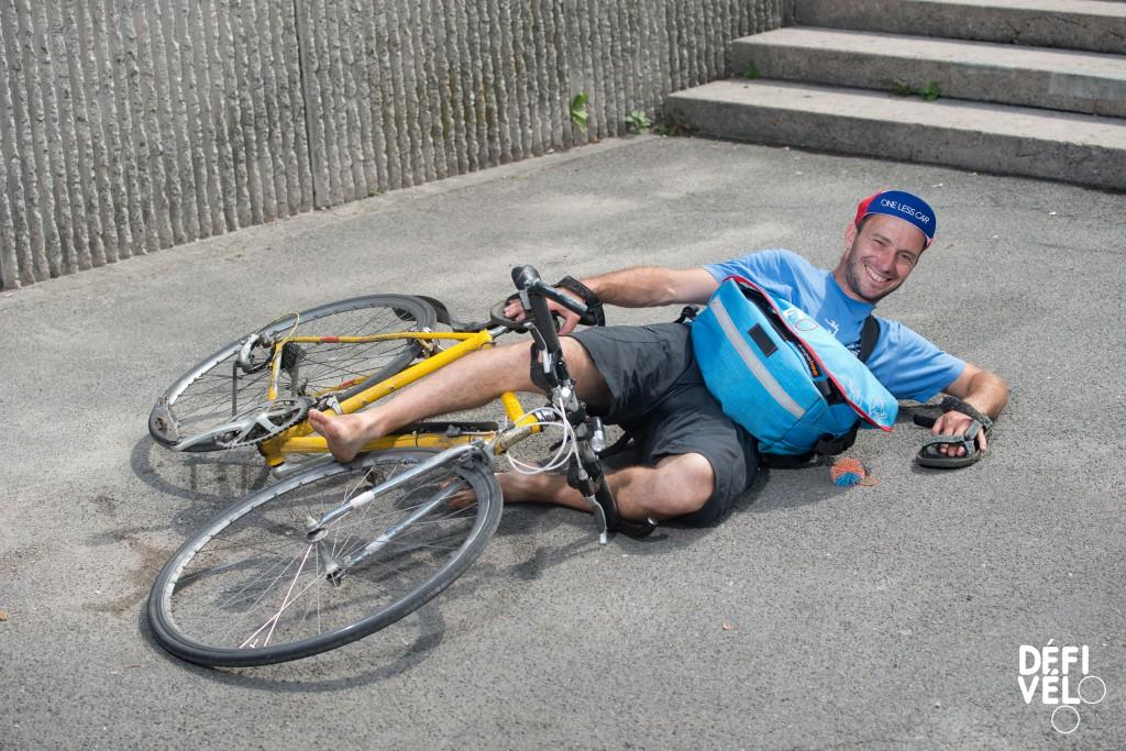 Lausanne, mercredi 14 juin 2017. Montbenon. Finale DEFI Vélo. Portraits des moniteurs et monitrices. Mathieu Genoud. Copyright © Marius Affolter 2017